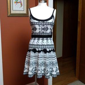 Bebe black/white print sundress